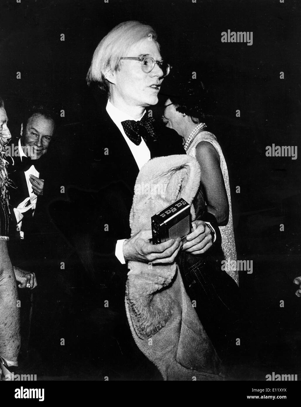 Artist Andy Warhol arrives at Federal-Press-Ball - Stock Image
