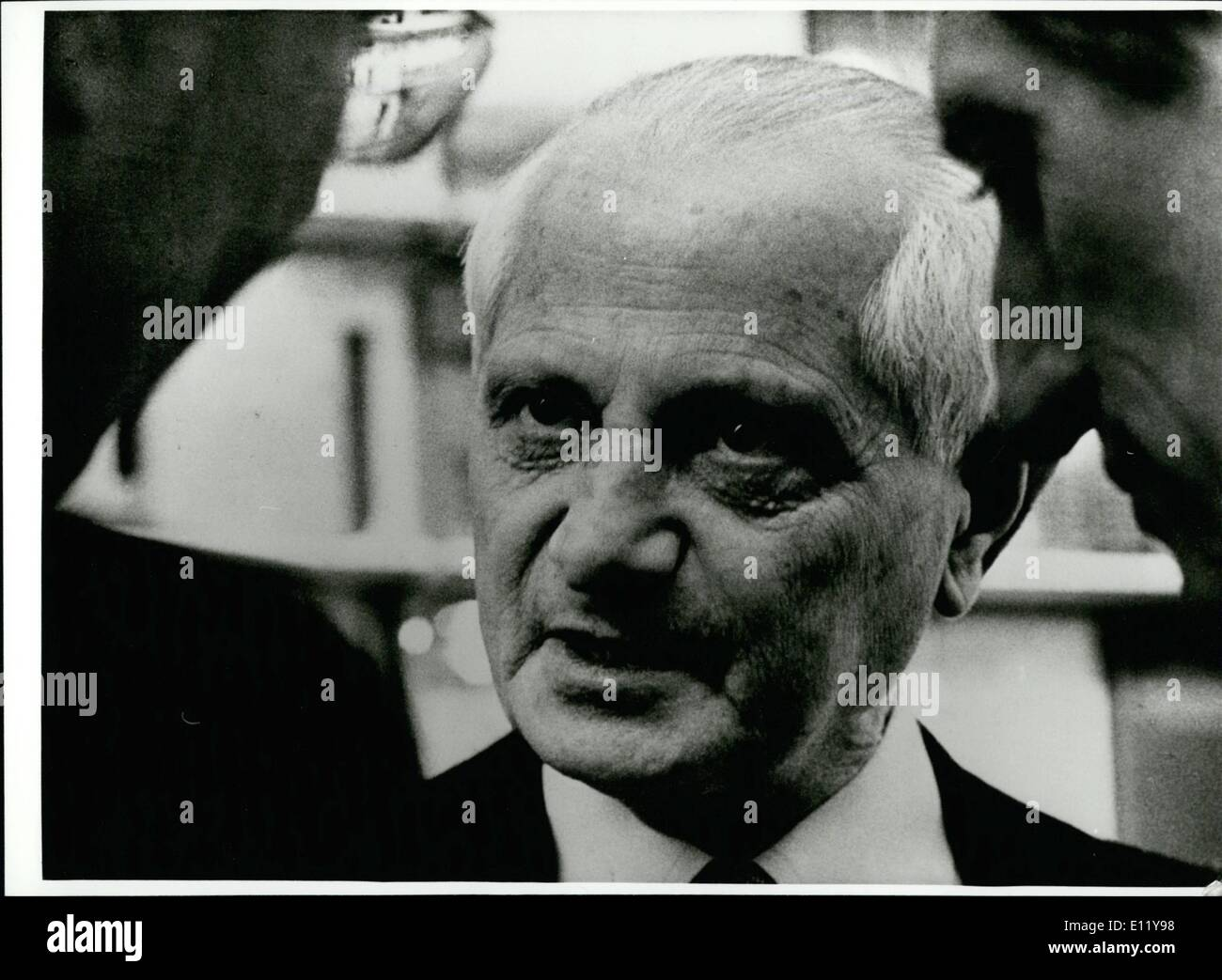 Dec. 12, 1980 - 75th. Birthday of Manes Sperber: On december 12th. 1980 the German-French writer and individual - Stock Image