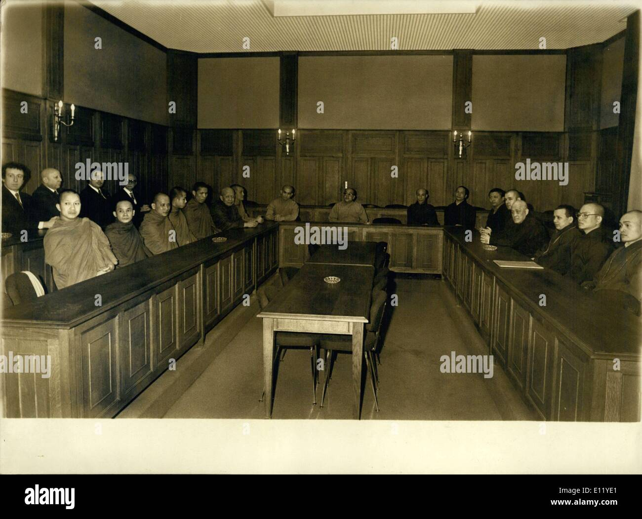 Mar. 23, 1981 - World Premiere Buddhism in Paris Private Meeting - Stock Image