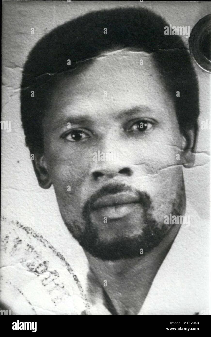 Apr. 23, 1981 - Martinique's Robert Reyal, 41, who had been the gardener of the victim, is one of two abductors arrested for Kluger's kidnapping. - Stock Image