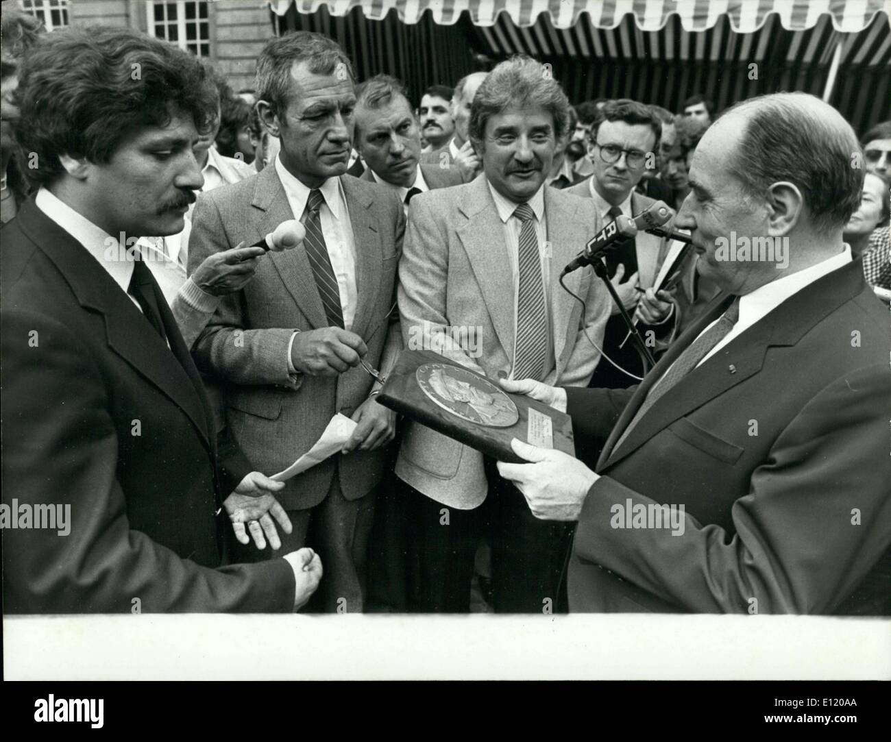Jul. 23, 1981 - The visit occurred on July 22, a Wednesday, after he returned from Ottawa. - Stock Image