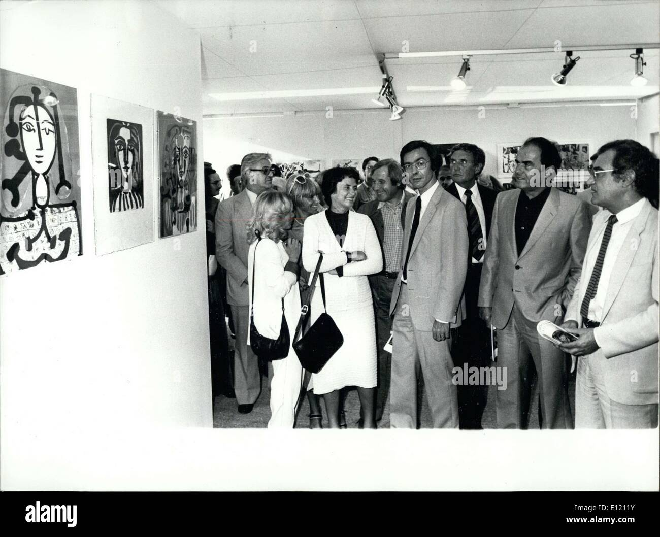 Sep. 11, 1981 - Fillioud is Minister of Communication. This is the event of the official opening of the ''Fete de l'Humanite'' (Celebration of Humanity) at the Courneuve. - Stock Image