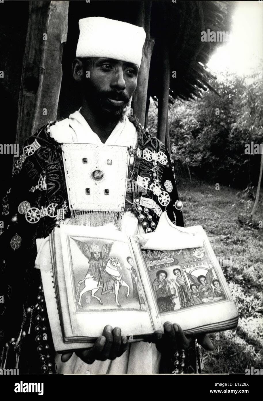 Mar. 03, 1982 - Ethiopia: a poor country with a high culture Ethiopia is the only African counttry with a recorded - Stock Image