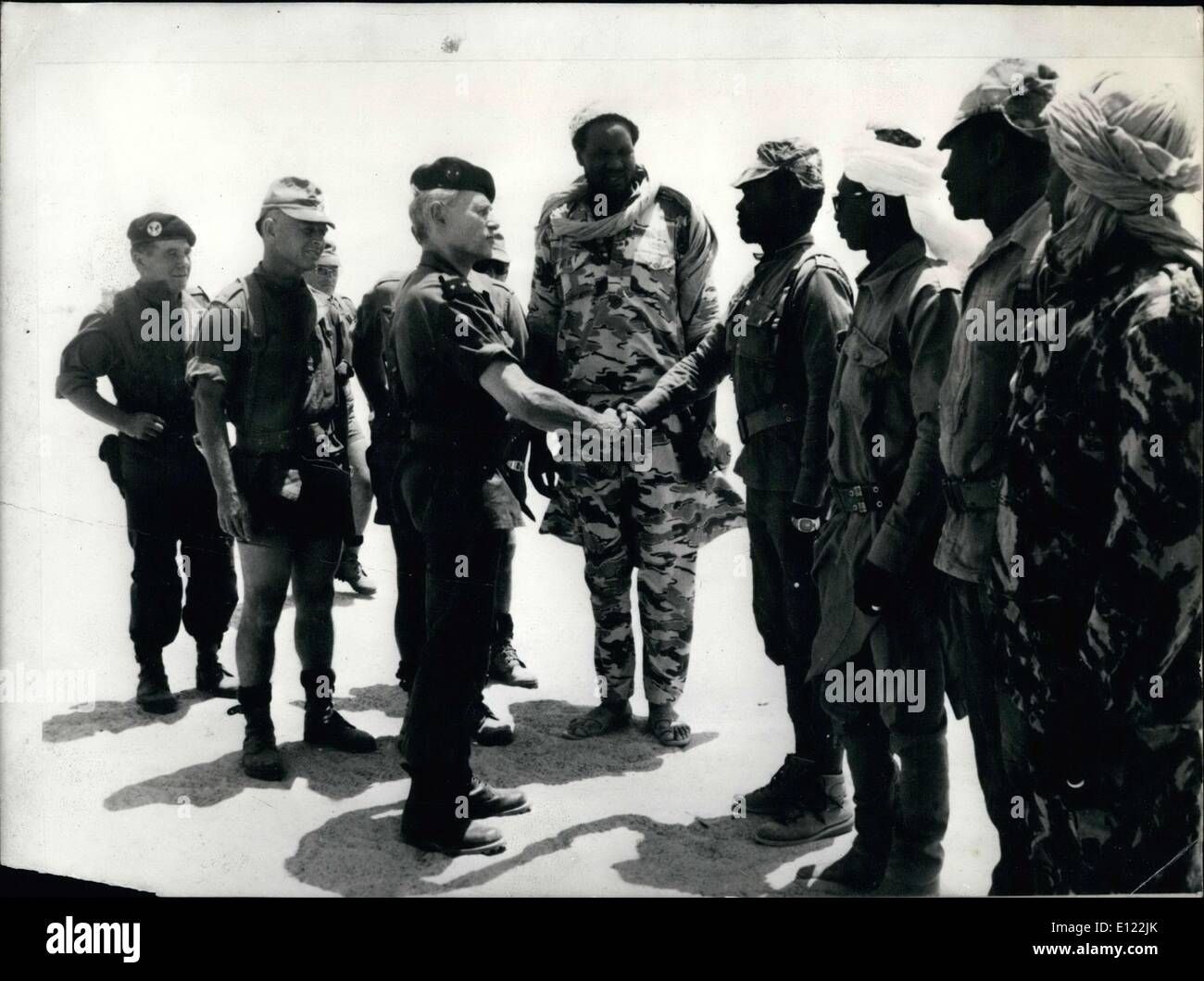Sep. 12, 1983 - The Libyans are preparing to attack, which is information taken very seriously by General Poli, commander of the French forces in Tchad. - Stock Image