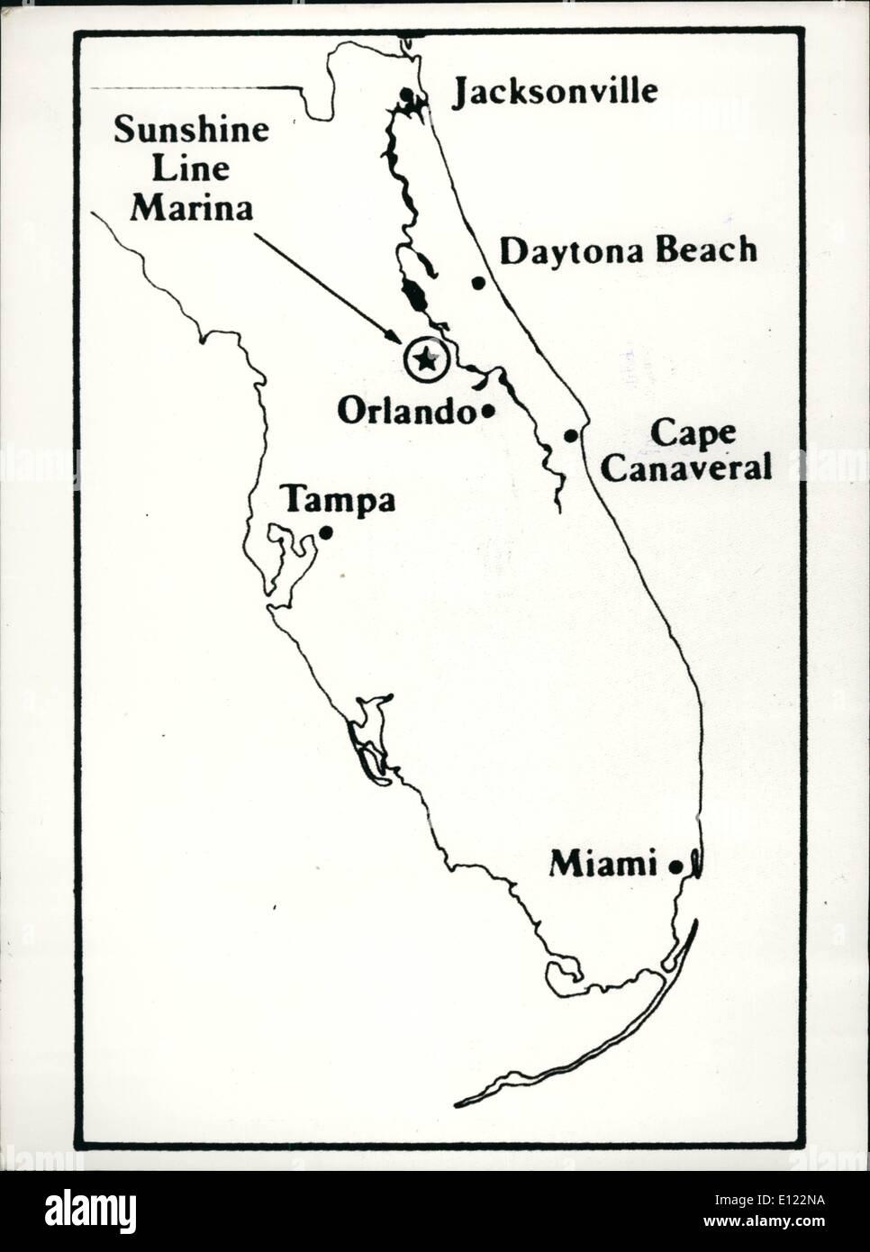 St Johns Florida Map.May 05 1982 River Cruising In Florida Map Showing Florida State