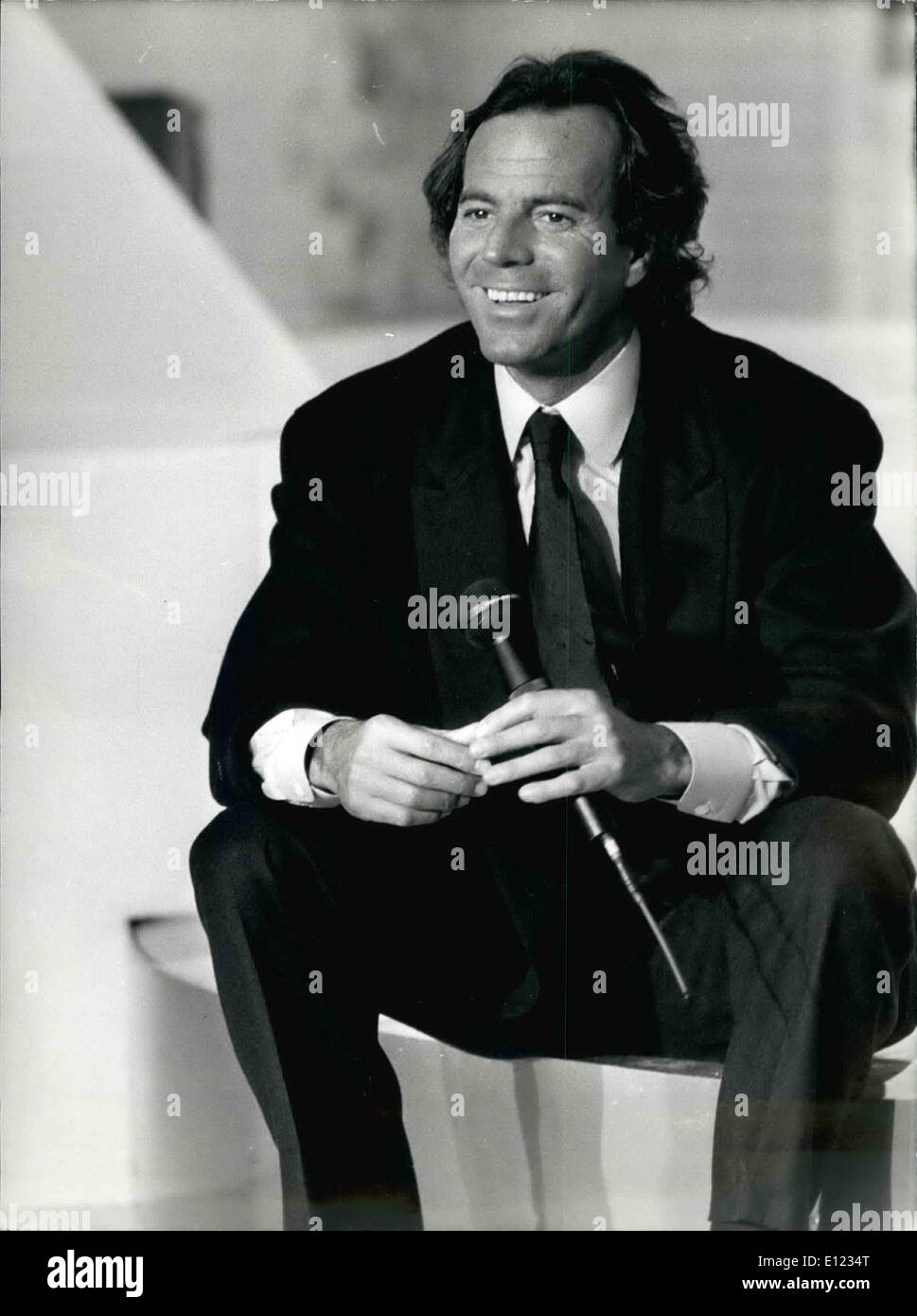 Jan. 01, 1984 - Iglesias recorded his own version of the song ''Champs Elysees'' at the Gabriel Pavilion for Michel Drucker's TV show before returning to his singing tour which starts on January 7th. Singer Manuela doing Christmas shopping. - Stock Image