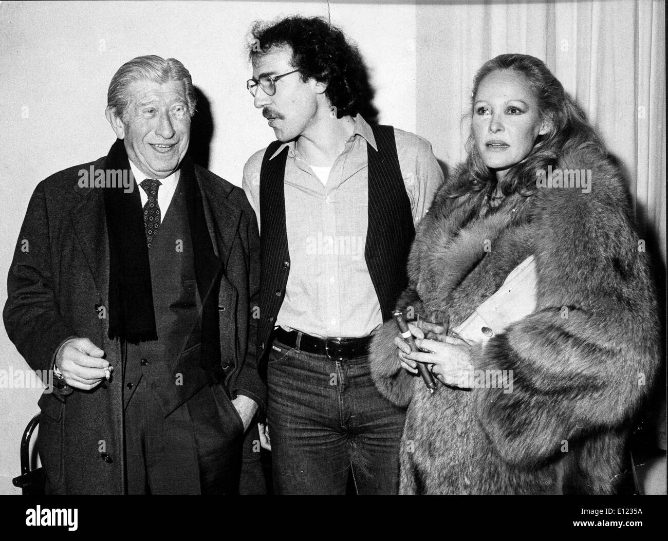 Jan. 01, 1984 - File Photo: circa 1970s-1980s, location unknown. Perfume maker ZINO DAVIDOFF with URSULA ANDR - Stock Image