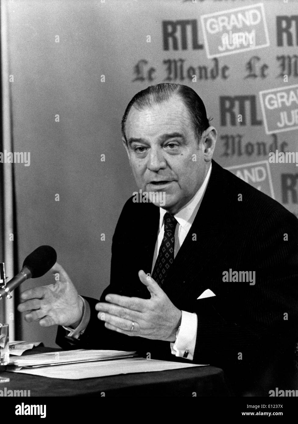 RAYMOND BARRE French Prime Minister - Stock Image
