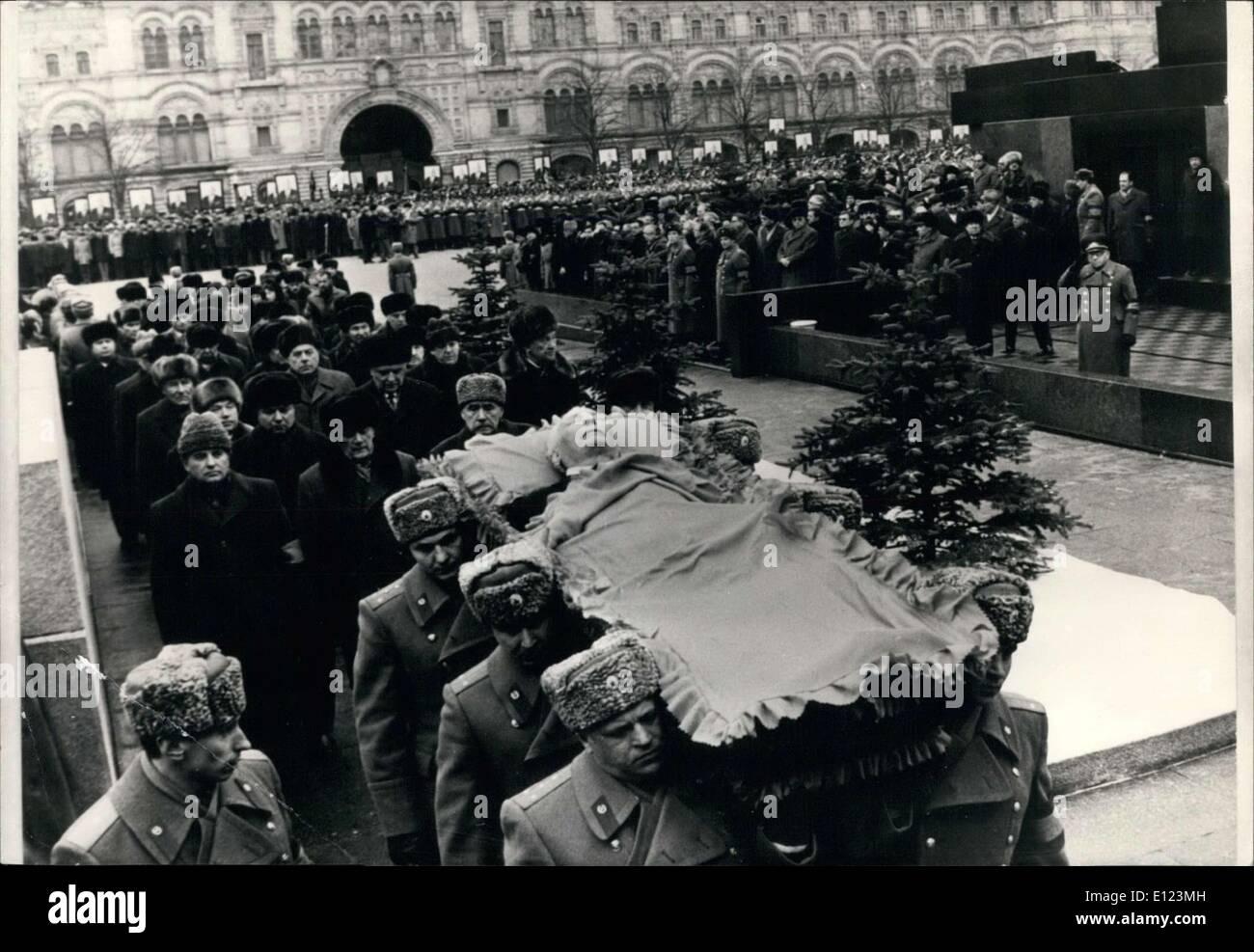 Mar. 15, 1985 - Konstantin Chernenko's Funeral in Moscow - Stock Image