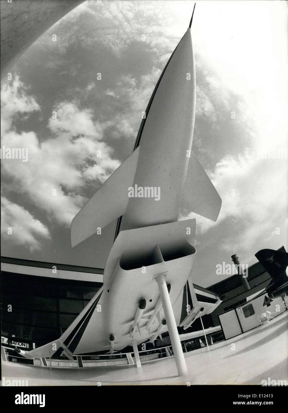 Jun. 04, 1985 - OPS/ 36TH AERONAUTICS ANS  SPACE INTERNATIONAL SHOW IN PARIS LE BOURGET: PROJECT OF A EUROPEAN FIGHTING PLANE BUILT BY GREAT BRITAIN. - Stock Image
