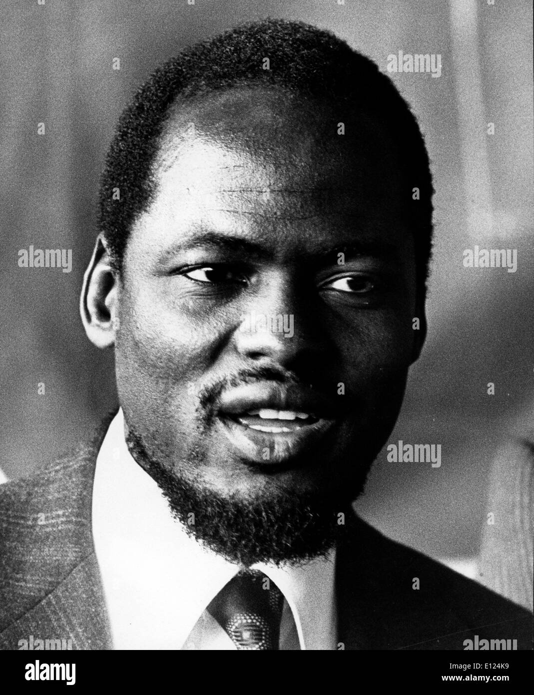 Jan. 01, 1986 - File Photo: circa 1980s, location unknown. JOAQUIM ALBERTO CHISSANO (born 22 October 1939) served as the second - Stock Image
