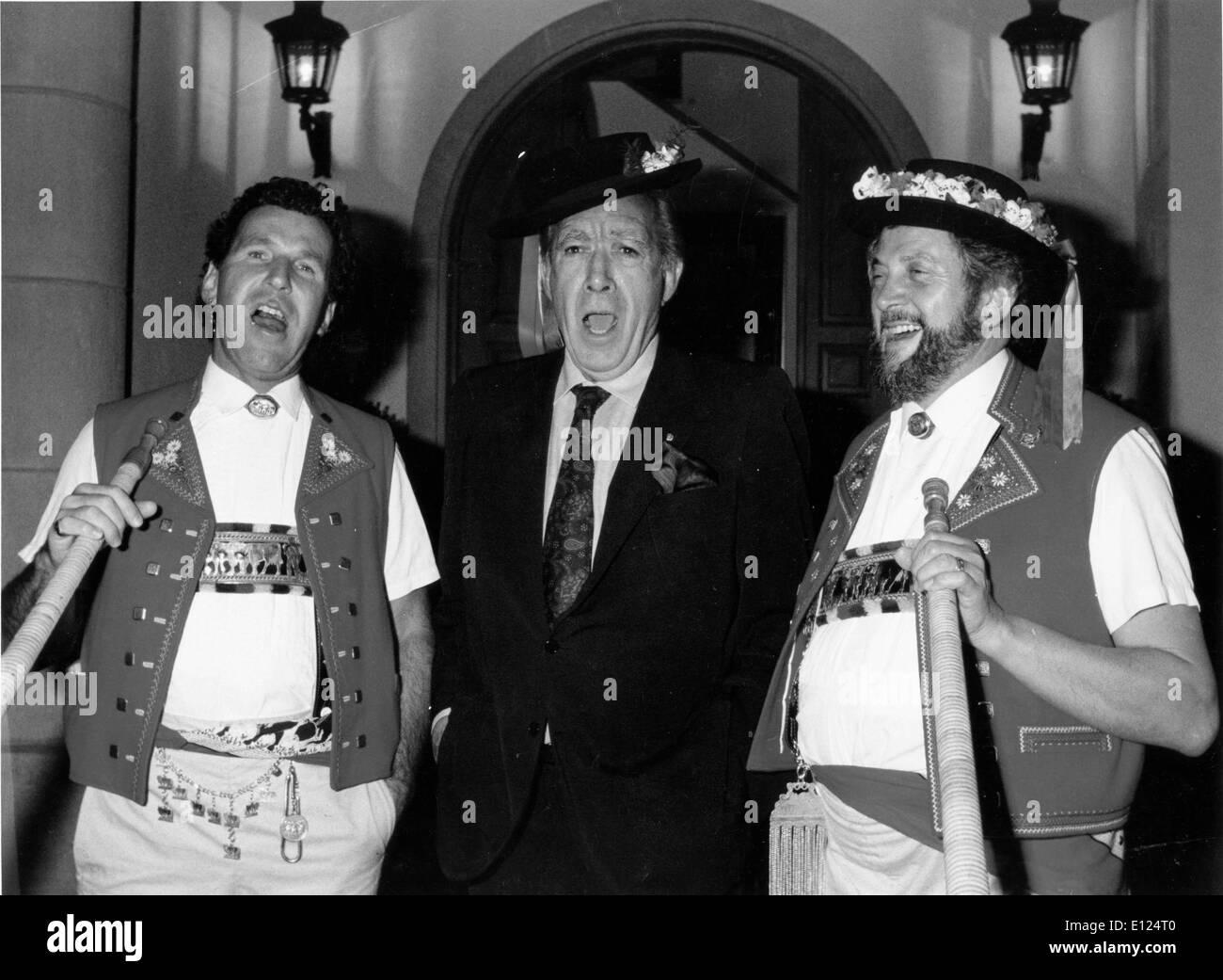 Dec 18, 1990; Lucerne, Switzerland; Oscar winning actor ANTHONY QUINN (1915-2001) in Switzerland.. - Stock Image