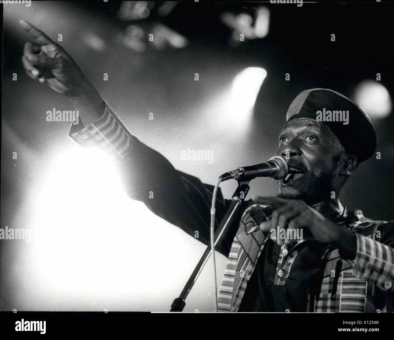 Jul. 07, 1991 - Jimmy Cliff in Montreux: Reggae-star Jimmy Cliff is seen here during his performance at the year's Montreux Jazz Festival July 17th. - Stock Image