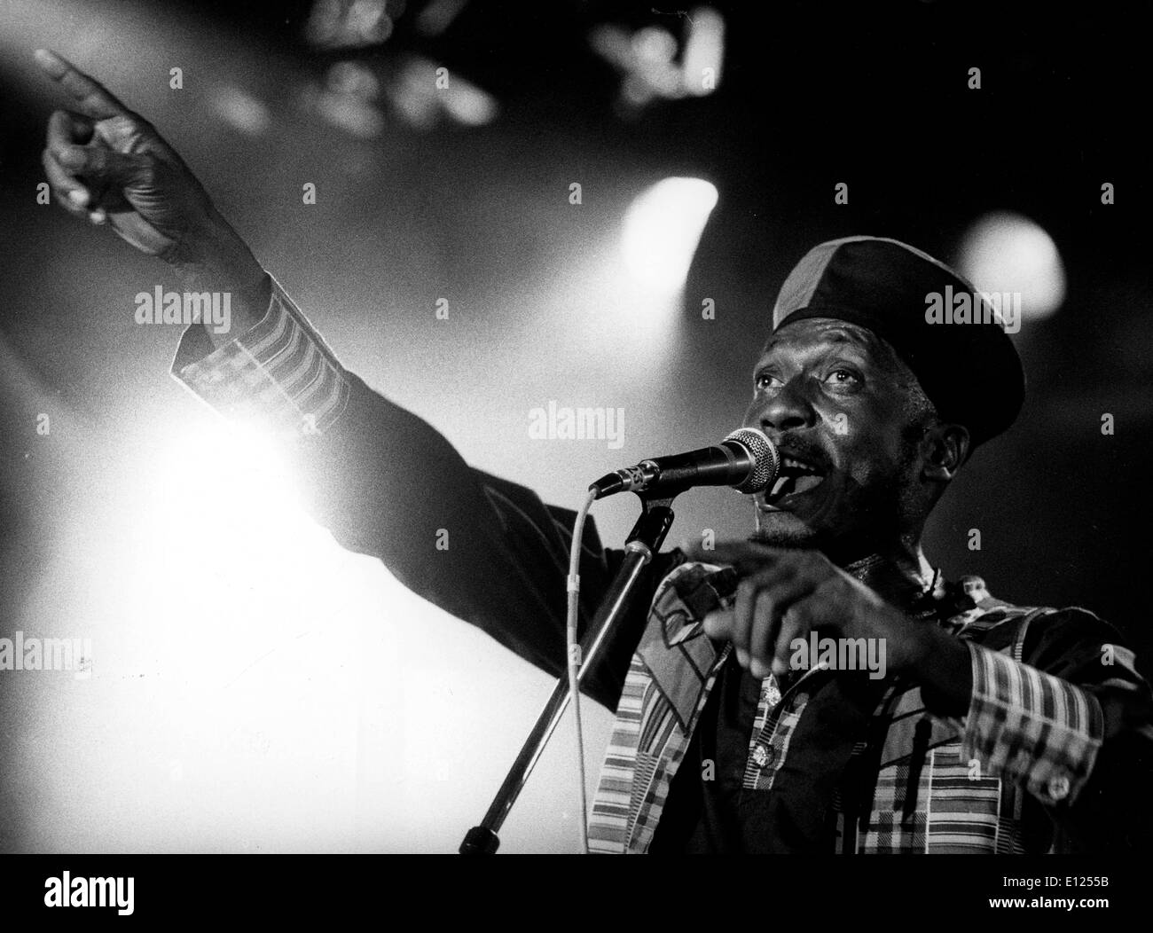 Jamaican reggae musician, JIMMY CLIFF performing at the Montreux Jazz Festival - Stock Image