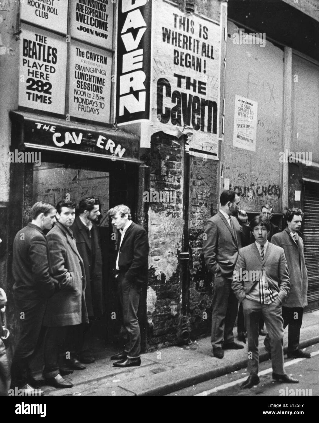 The famous venue The Cavern in 1960s - Stock Image