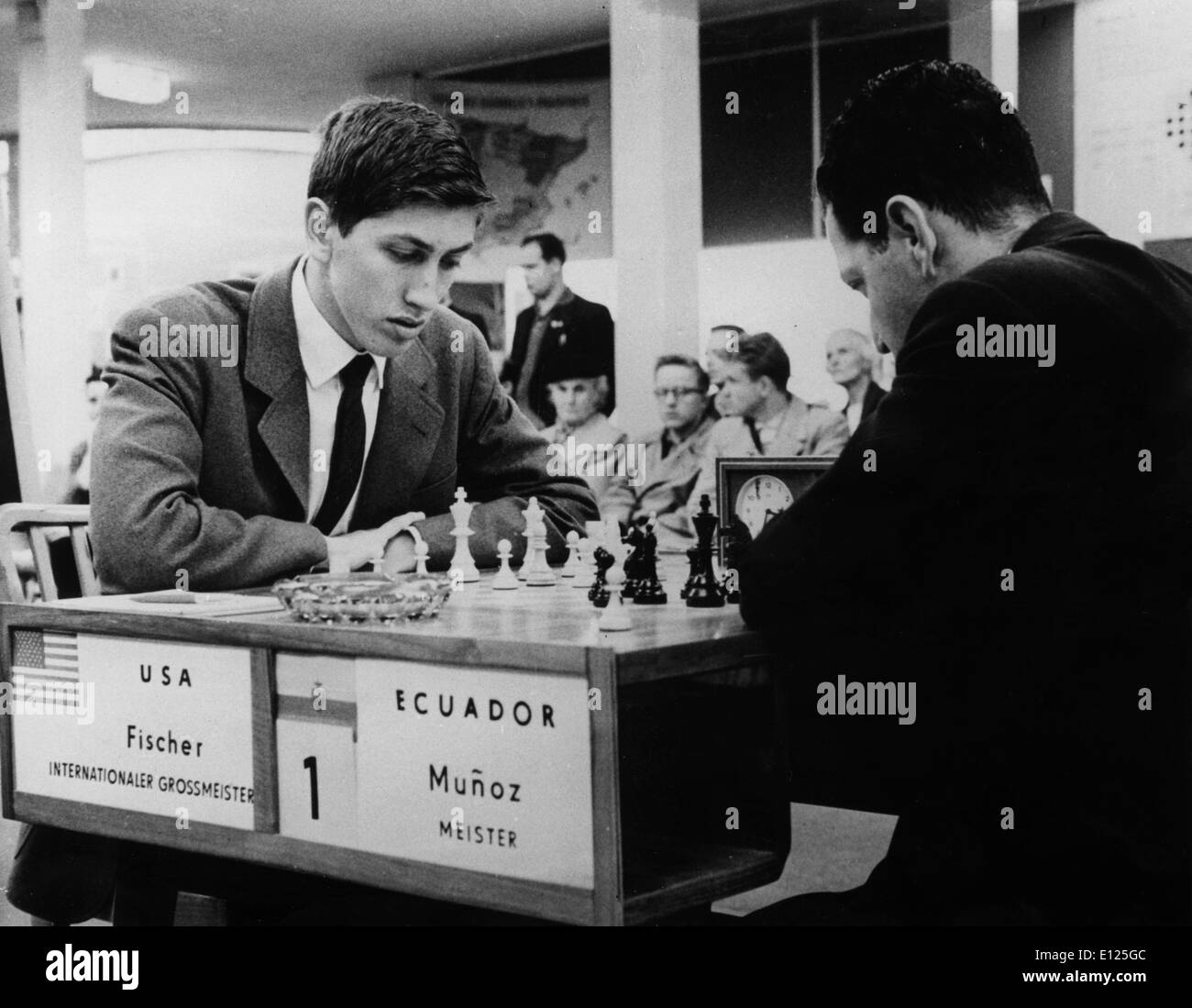 Jul 16, 2004; Leipzig, EAST GERMANY; (File Photo 10/20/1960) Former world chess champion BOBBY FISCHER of the United - Stock Image