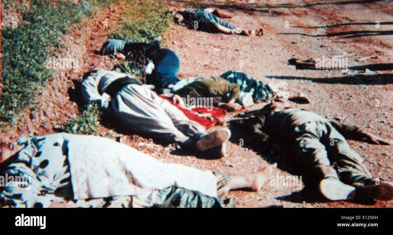 Mar 16, 1988 - Halabja, Iraq - Kurdish civilians killed by the gas attack - Stock Image
