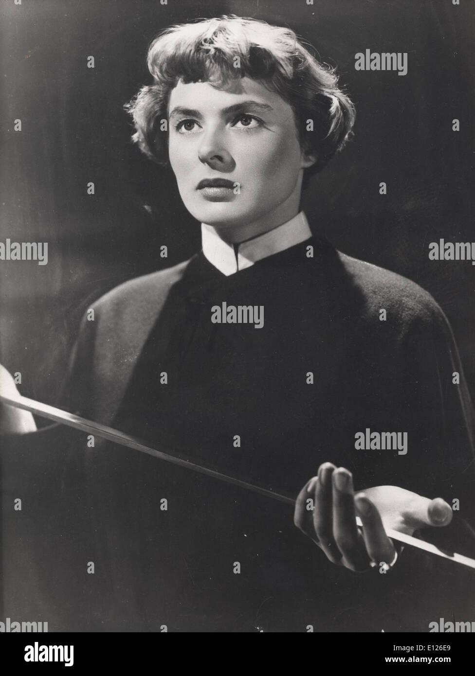 Nov 19, 2007 - London, England, UK - Ingrid Bergman at dress rehearsal of 'Joan or Arc' 1948 - Stock Image