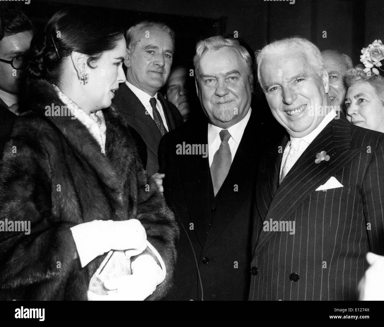 London, England, United Kingdom - OONA CHAPLIN, left, and CHARLIE CHAPLIN, right. Exact date unknown.:  ictur - Stock Image