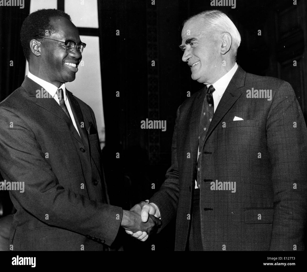 Apr 01, 2009 - London, England, United Kingdom - KOFI ABREFA BUSIA (11 July 1913 Ð 28 August 1978) was Prime Minister of Ghana from 1969Ð72. He was born in Wenchi, in the then British colony of Gold Coast (now called Ghana). He was educated at Methodist School, Wenchi, Mfantsipim School, Cape Coast, then at Wesley College, Kumasi from 1931Ð32. He later became a teacher at Achimota Secondary School. (Credit Image: KEYSTONE Pictures USA/ZUMAPRESS.com) - Stock Image