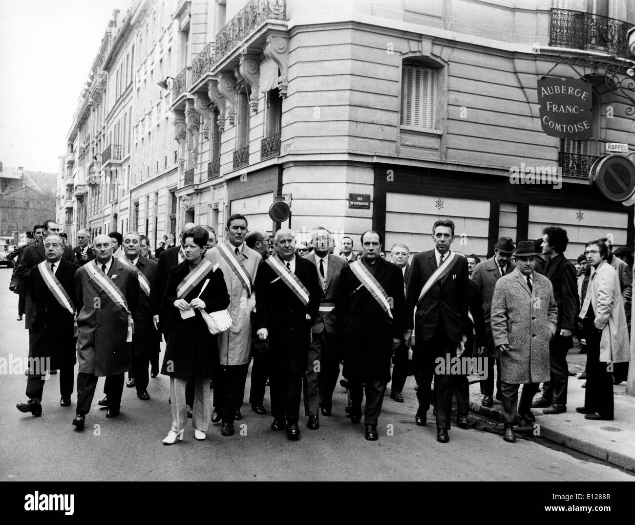 Apr 01, 2009 - London, England, United Kingdom - GASTON DEFFERRE (September 14, 1910 - May 7, 1986, Marseille) was a French socialist politician. Lawyer and member of the SFIO Socialist Party (French Section of the Workers' International), he was a member of the Brutus Network, a Resistance Socialist group during World War II. A long-standing member of the National Assembly (1945-1958, 1962-1986) and member of the Senate (1959-1962), he also served for many years as mayor of Marseille (1944-1945, 1953-1986) (Credit Image: KEYSTONE Pictures USA/ZUMAPRESS.com) - Stock Image