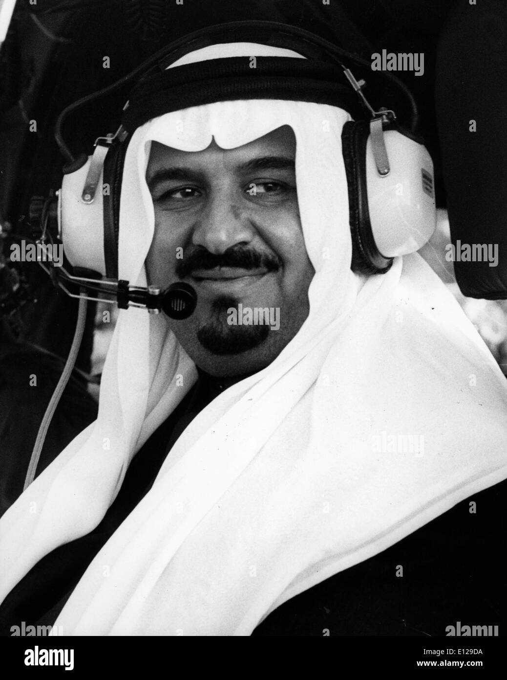 Apr 16, 2009 - Kuwait City, Kuwait - King ABDULLAH BIN ABDUL AZIZ Al Saud in helicopter. House of Saud is the royal family of the Kingdom of Saudi Arabia. The modern nation of Saudi Arabia was established in 1932, though the roots and influence for the House of Saud had been planted in the Arabian Peninsula several centuries earlier. Prior to the era of the Kingdom's founder, Abdul-Aziz ibn Saud, the family had ruled the Nejd and had conflicted on several occasions with the Ottoman Empire, the Sharif of Mecca, and the Al Rashid family of Ha'il - Stock Image