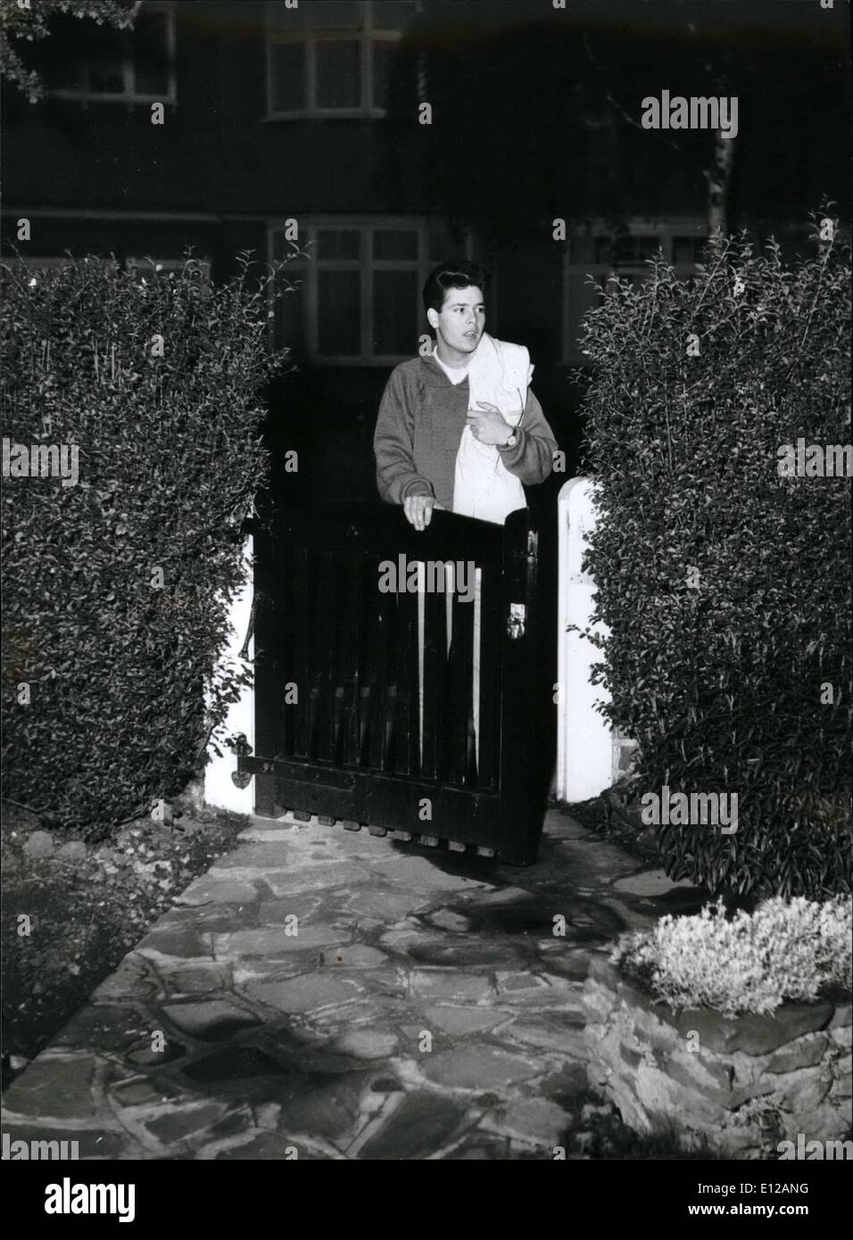 Dec. 09, 2011 - Cliff Arriving home in the small hours of the morning after a show. - Stock Image