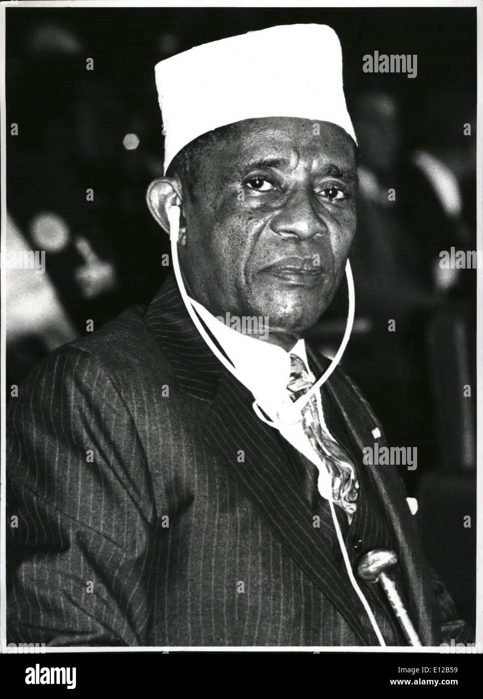 Dec. 09, 2011 - Abdullah: President Ahmed Abdullah of Comoros. - Stock Image