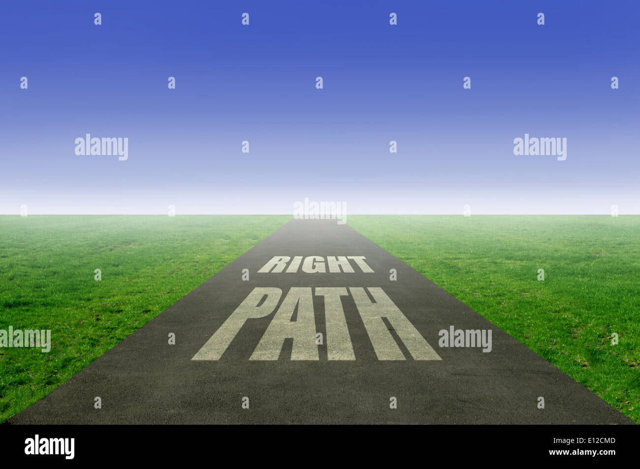 Follow the right path - Stock Image