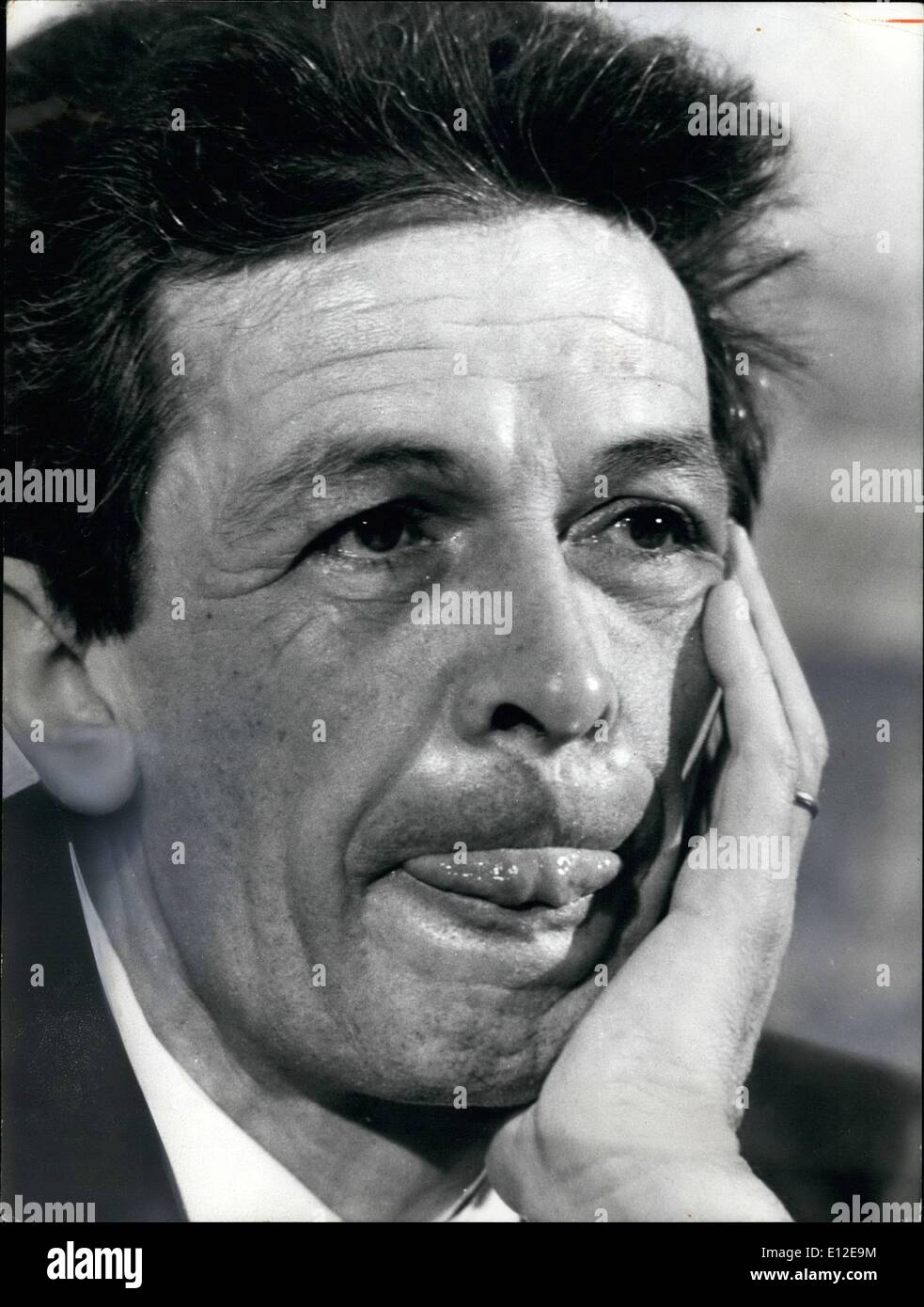 Dec. 15, 2011 - Italy's Communists scored their biggest electoral gains since World War II nearly overtaking Christian Democrats in regional elections as the nation's most powerful party. Photo shows the leader of the Italian Comunist party Enrico Berlinguer, 53, born in Sassari, Sardinia. - Stock Image
