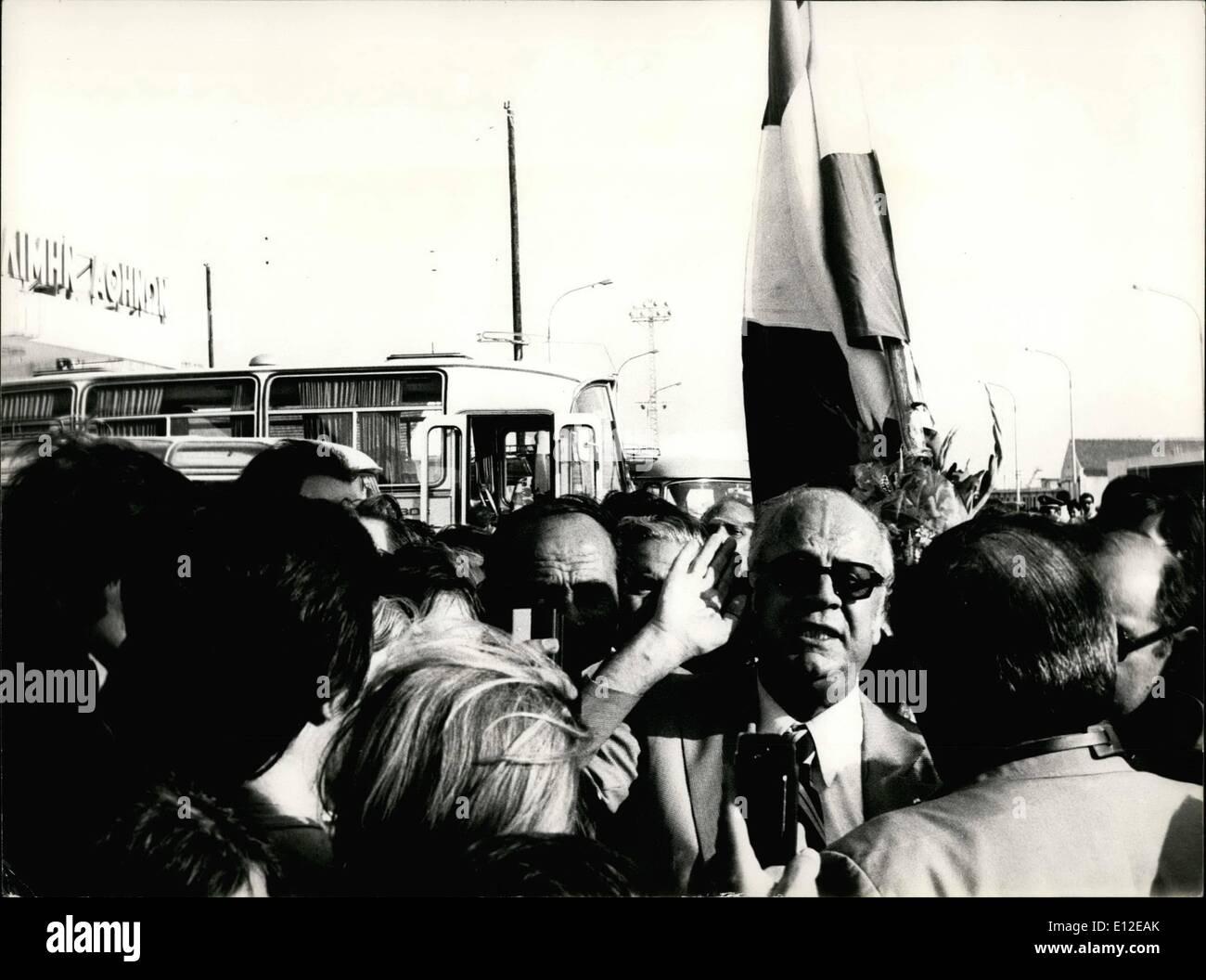 Dec. 16, 2011 - Former Greek Cabinet Minister and prominent exile leader, John Zighdis returning home. OPS: John - Stock Image