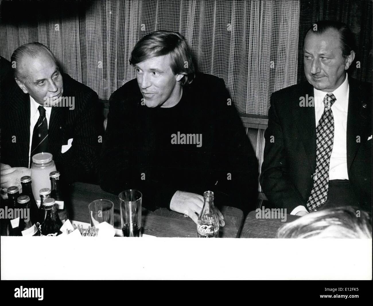 Dec. 26, 2011 - Guenter Netzer - The New Manager of the ''HSV'' - Football was his life - and it will be in futurel Guenter Netzer (Our Picture), formerly star of the football clubs ''Borussia Moenchengladbach'' (Germany) and ''Real Madrid'' (Spain) and 35 times national player, is now manager of the ''Hamburger SPORTVEREIN'' (Football club of Hamburg; FRG) and so sucessor of Dr. Peter Krohn, who departed in discord some weeks ago. When- although the affair is perfect - the new manager assumes his duties, isn't settled, for Guenter Netzer shall make an American tour between 15.1. and 6.2 - Stock Image