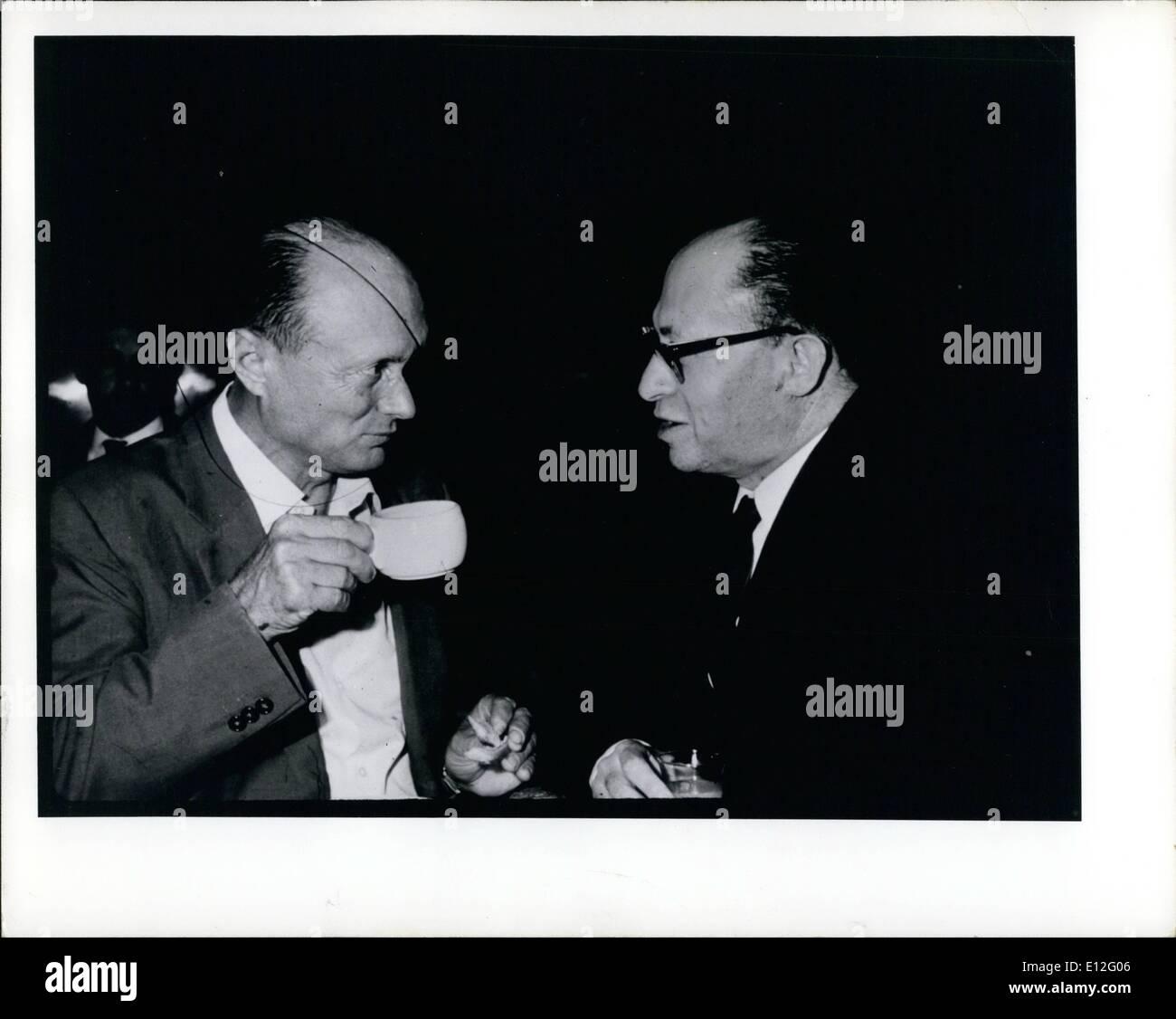 Dec. 26, 2011 - Menachem Begin and Moshe Dayan - Stock Image