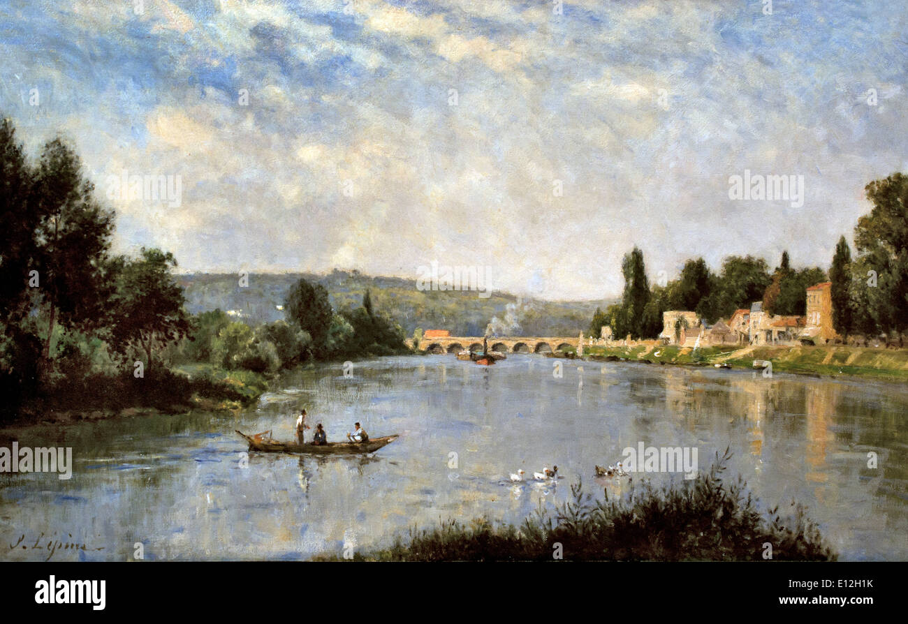 The Seine at the Pont de Sèvres ca. 1876-1880 Stanislas Lépine Caen 1835-París 1892 France French - Stock Image