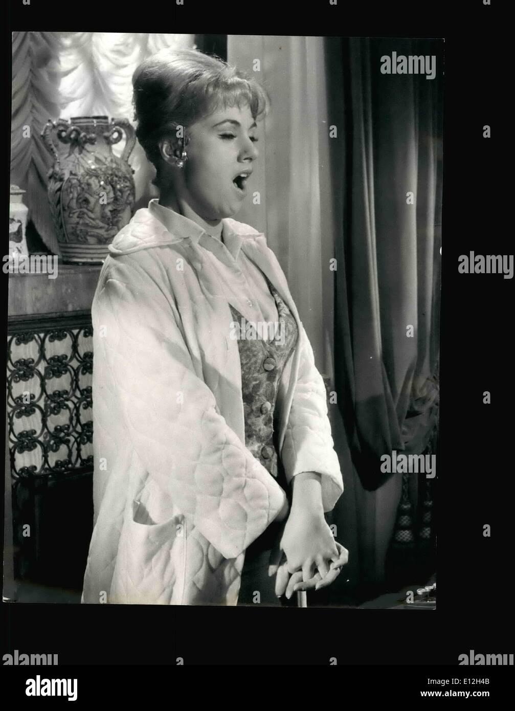Jan. 03, 2012 - Rome, April 1963 = Shirley-Jones, Rossano Brazzi ''The italian Lover'', french actress Nicholne Stock Photo