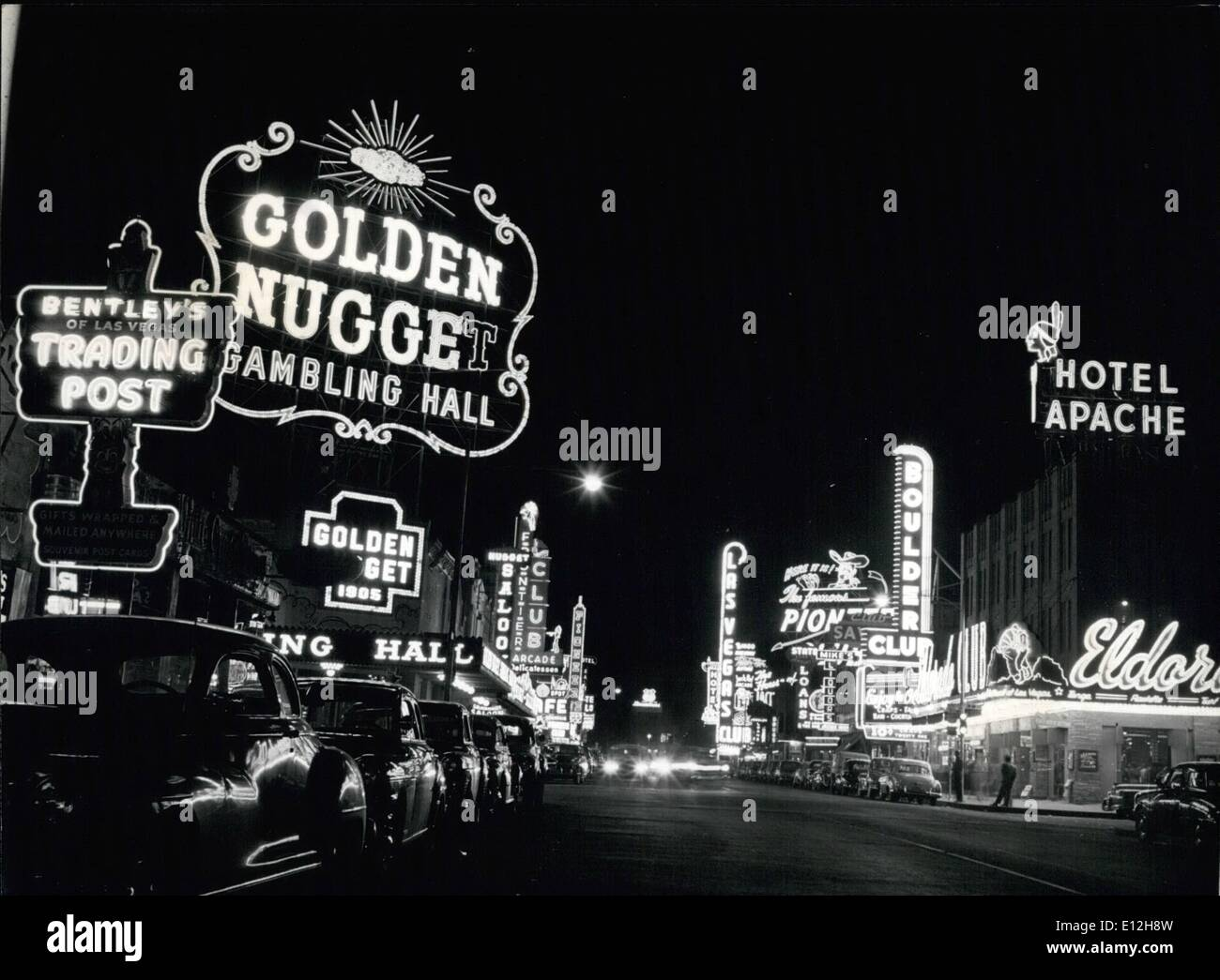 Jan. 10, 2012 - Marriage Town By Night: Las Vegas Is Brighter Than New York's Broadway Or London's Piccadilly: Set Stock Photo