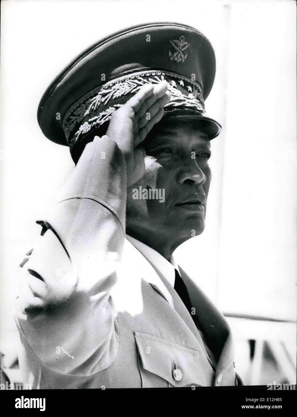 Jan. 03, 2012 - General GABRIEL RAMANTSOA head of State of the Malagache Republic E - Stock Image