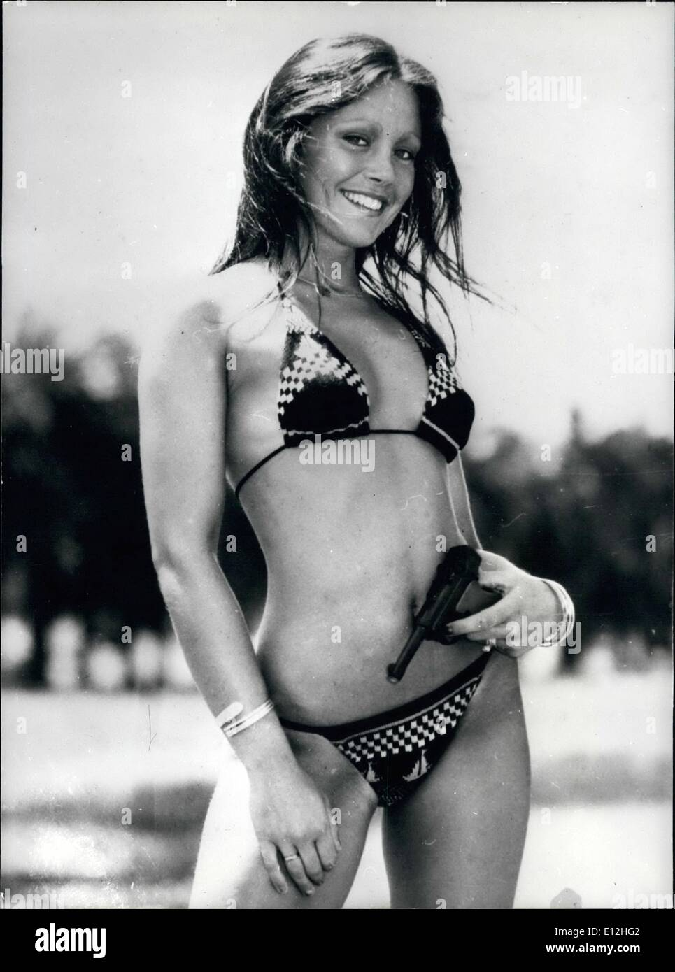 Feb. 24, 2012 - Janice Got Her Cue: A Sydney Australia newspaper is searching for a new Bond Girl, Janice Reely is one of four finalists, of which the winner will be flown to a film location in either Europe or South America as a special guest of United Artists. - Stock Image
