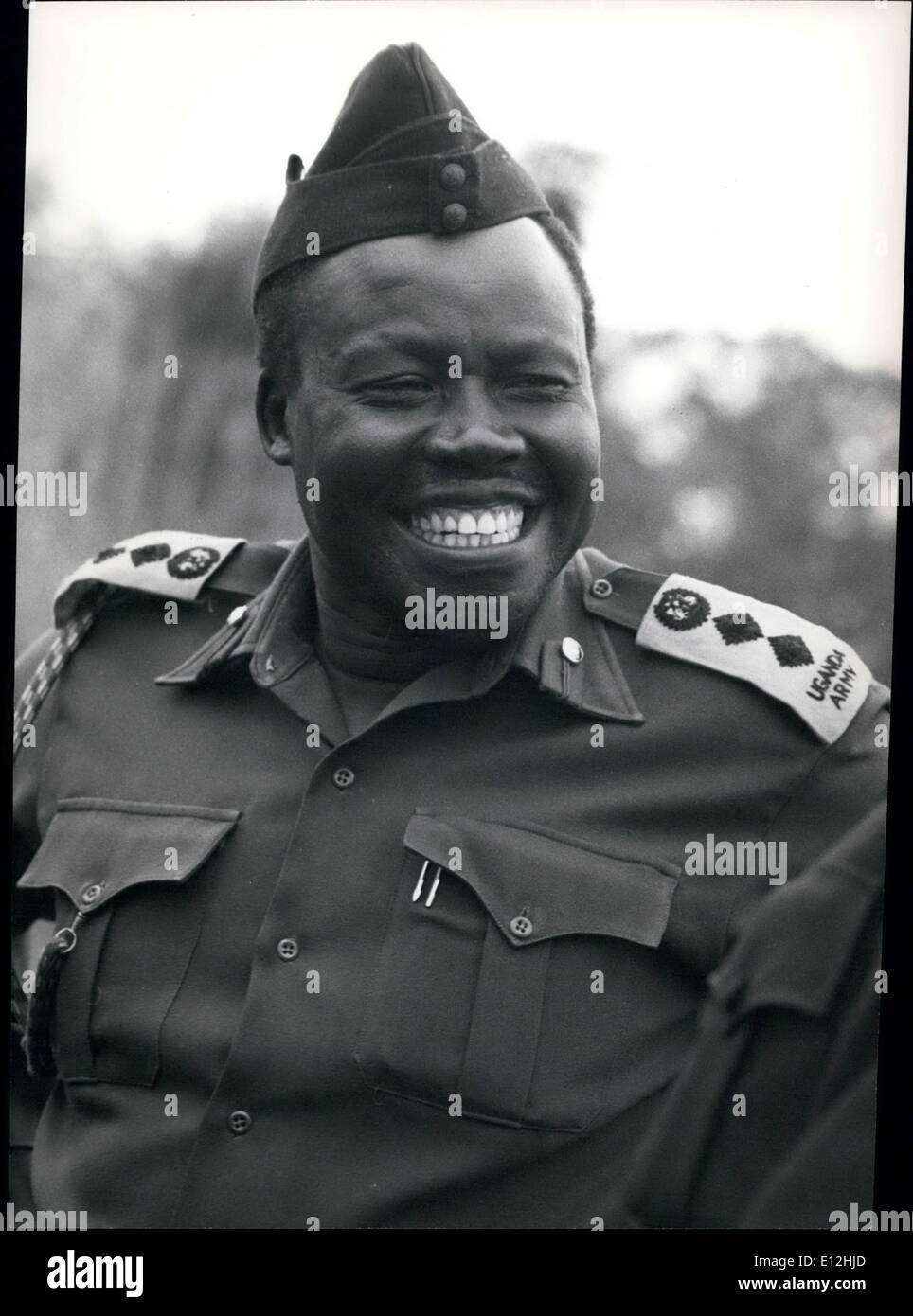 Feb. 24, 2012 - Lieutenant colonel Khamis safi, leader of Religious affairs, Uganda army. - Stock Image