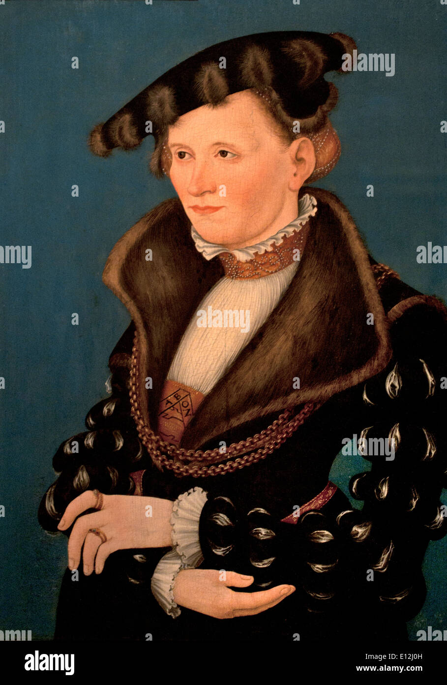 Portrait of a Woman 1539 Lucas Cranach  the Younger . Wittenberg 1515-1586 German Germany - Stock Image