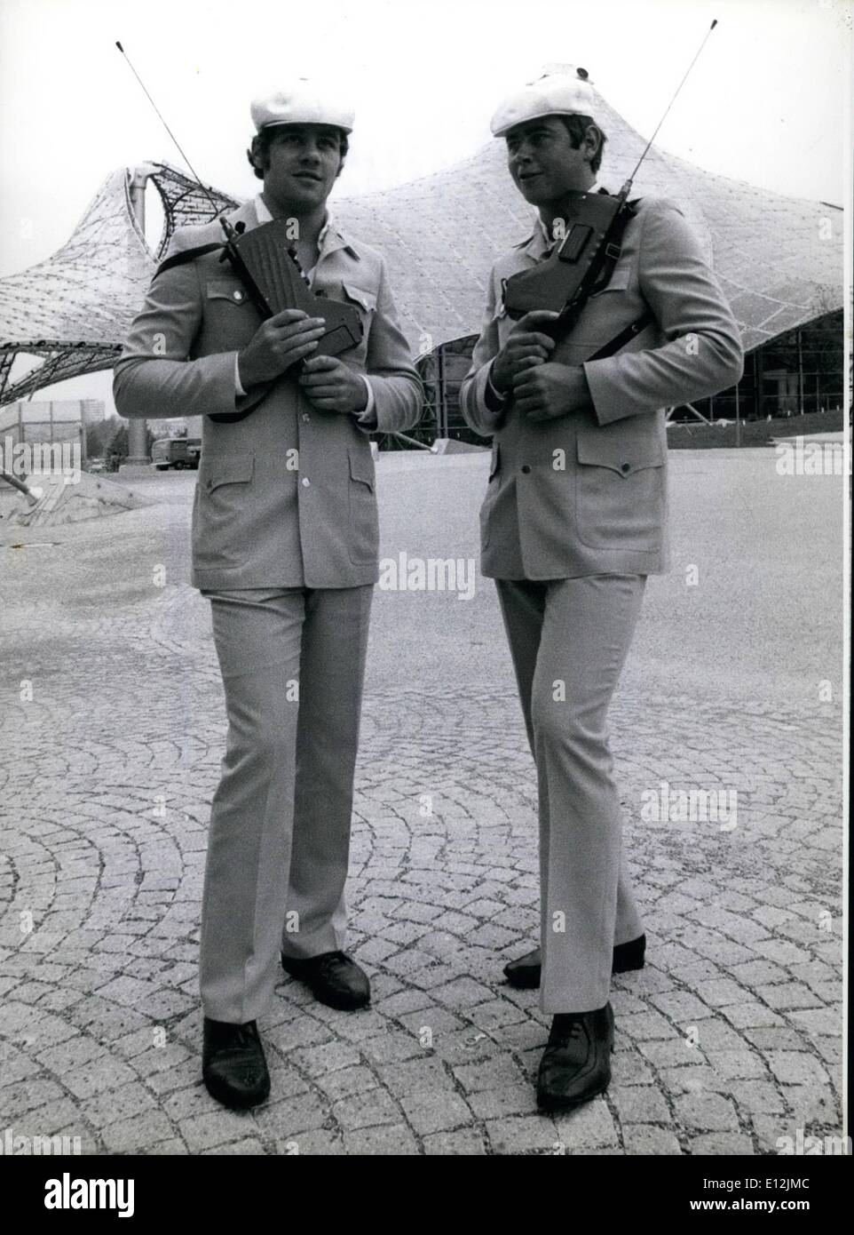 Feb. 24, 2012 - Fashionable Safari look uniforms for the Olympic Constabulary. During the Olympic Summer Games about - Stock Image