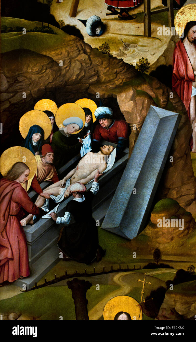Scenes from the Passion ( detail )  ca. 1495-1500 Anonymous German Artist active in Düren 1500 - Stock Image