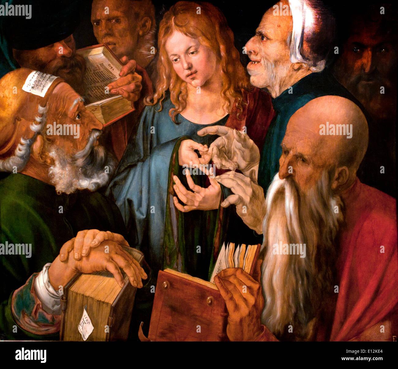 Jesus among the Doctors 1506 Albrecht Dürer Nuremberg 1471-1528  German Germany - Stock Image