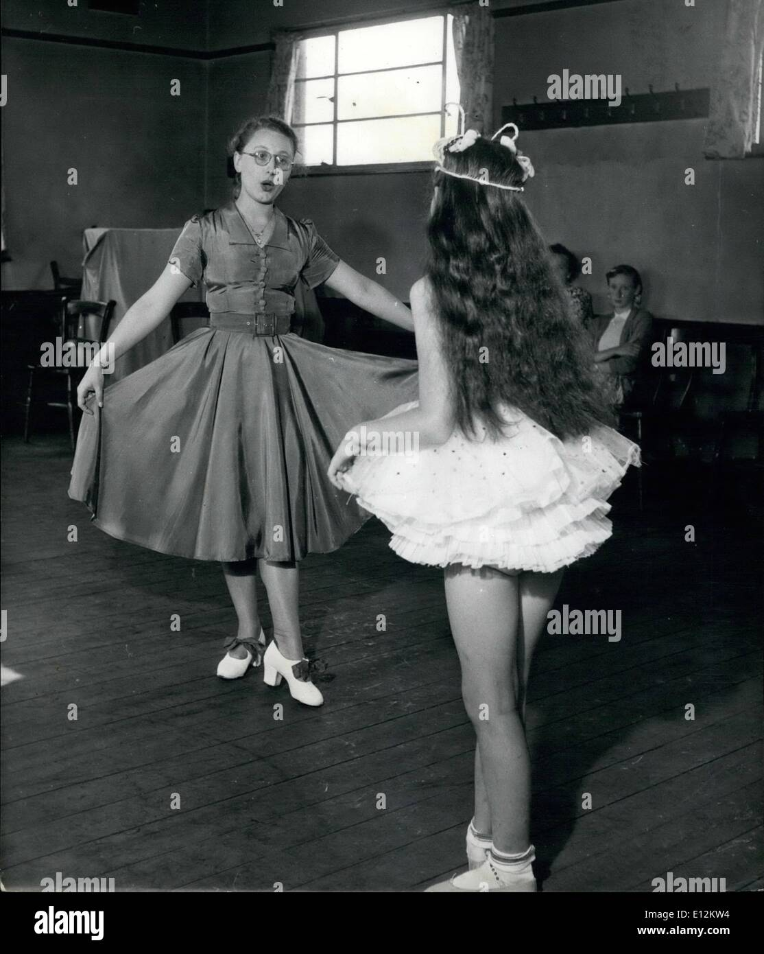 Feb. 24, 2012 - Miss Rita Maxted patiently teaches Diane Jarrett the art of ballet and tap dancing by means of lip reading. Diane cannot hear the music but she has an excellent sense of rythym. - Stock Image