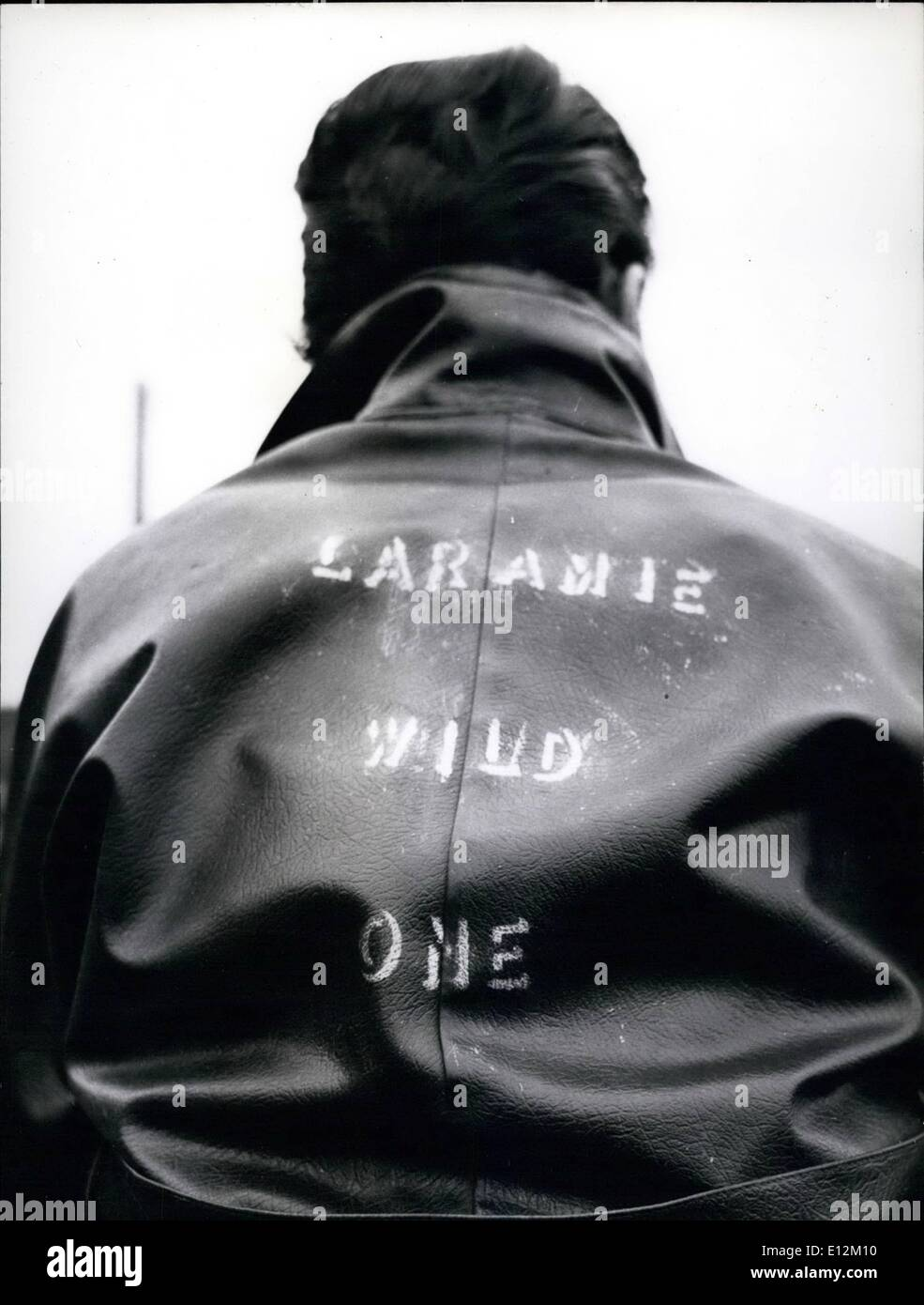 Feb. 24, 2012 - Significant: Laramie Wild One. A rider without a helmet advertises his character to the world. - Stock Image