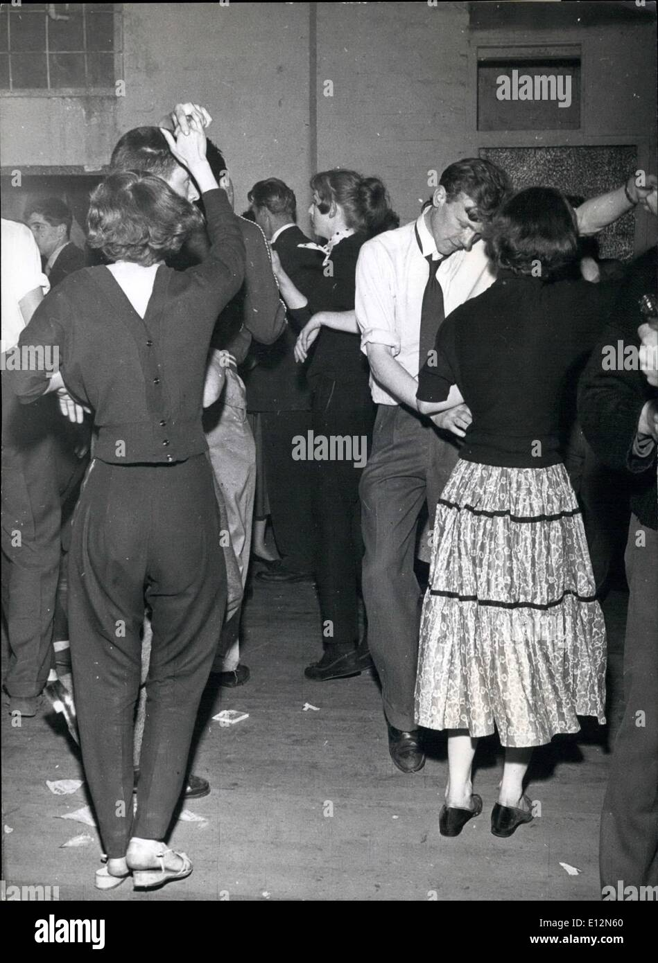 Feb. 24, 2012 - All night Jazz sessions in London : Some in Jeans, some in skirts: some wearing shoes, and others bare footed but all dancing to the Super heated music of Cy Laurie. - Stock Image