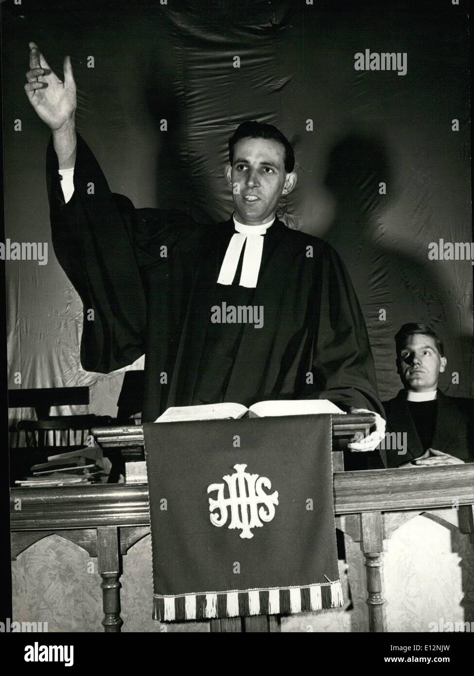 Feb. 24, 2012 - The ''Rock'N'Roll'' Parson Delivers A Sermon: Sunday mornings sees the Mobile - Stock Image