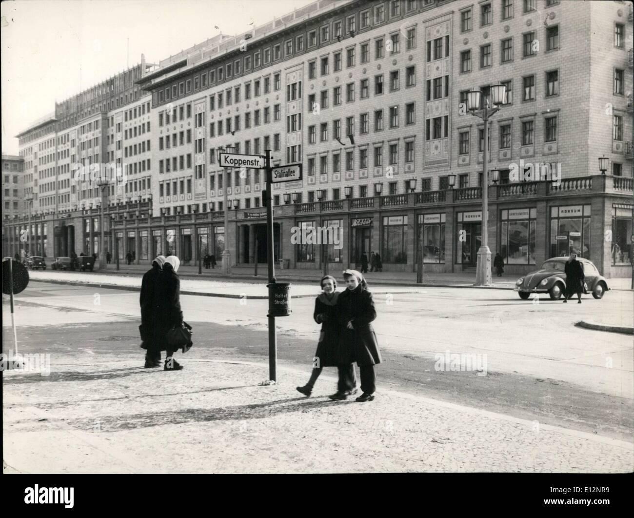 Feb. 24, 2012 - East Berlin Karl Marx Alle Stock Photo