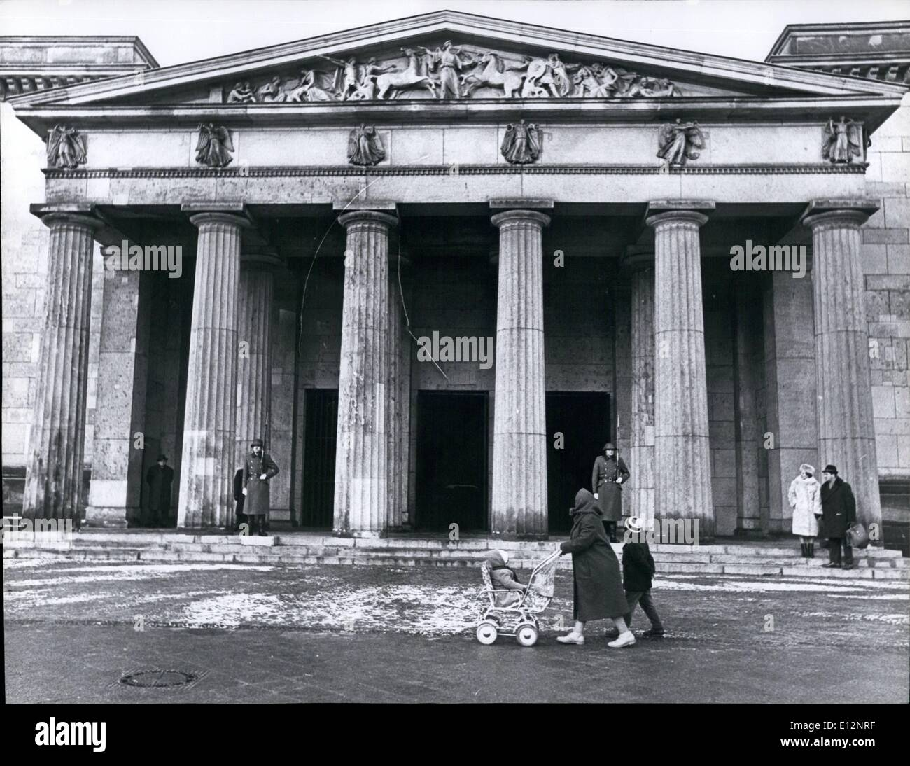 Feb. 24, 2012 - East Berlin Memorial for the victims of Fascism $ militarism at Unter Den Linden. Stock Photo