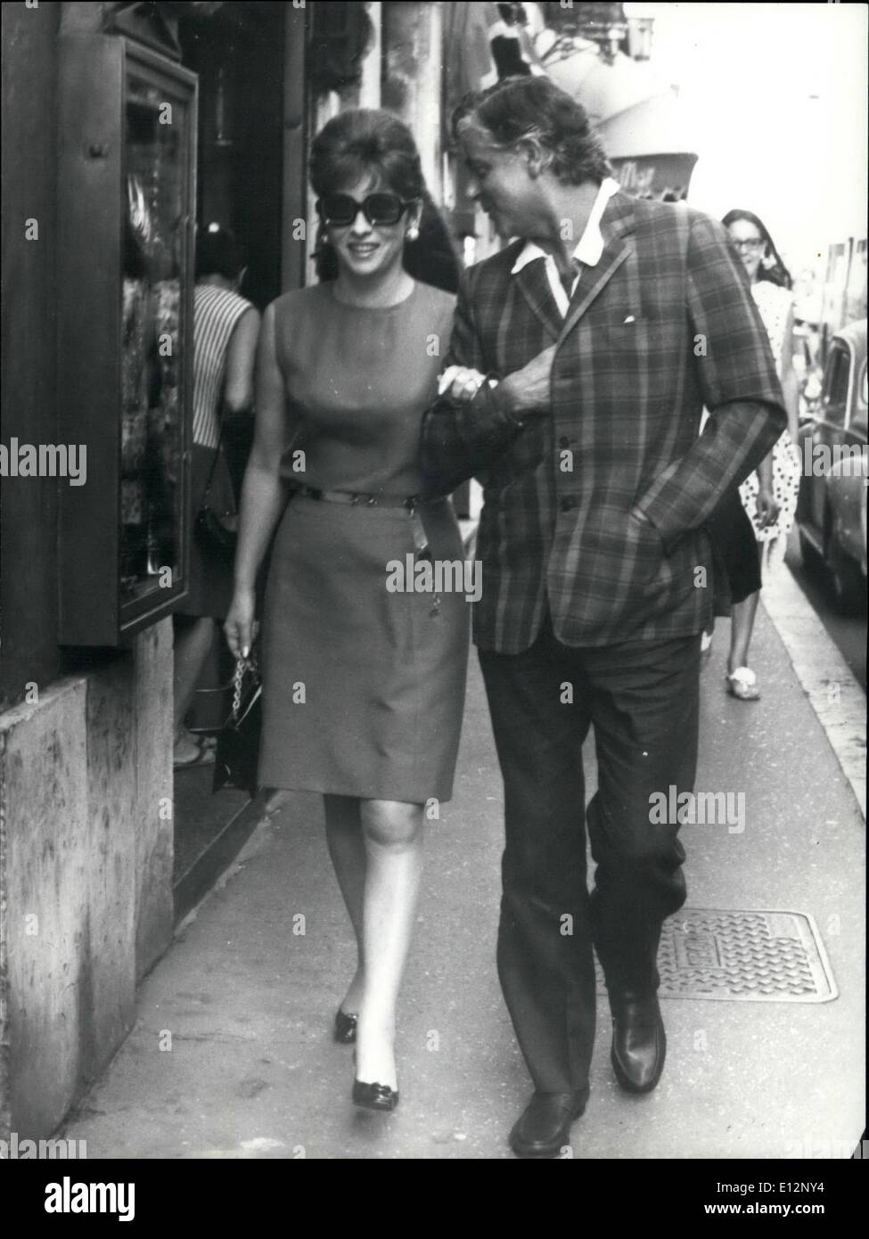 Feb. 24, 2012 - Actress Gina Lollobrigida accompanied by an unidentified friend, walking the streets for shopping. Stock Photo